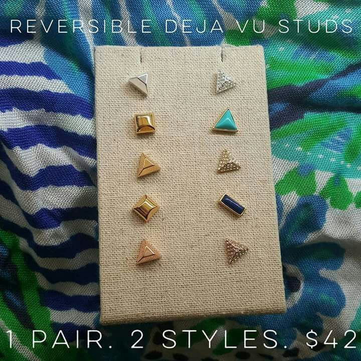 Studs for days! Get your double sided studs for $ 42 at www.stelladot.com/territindall