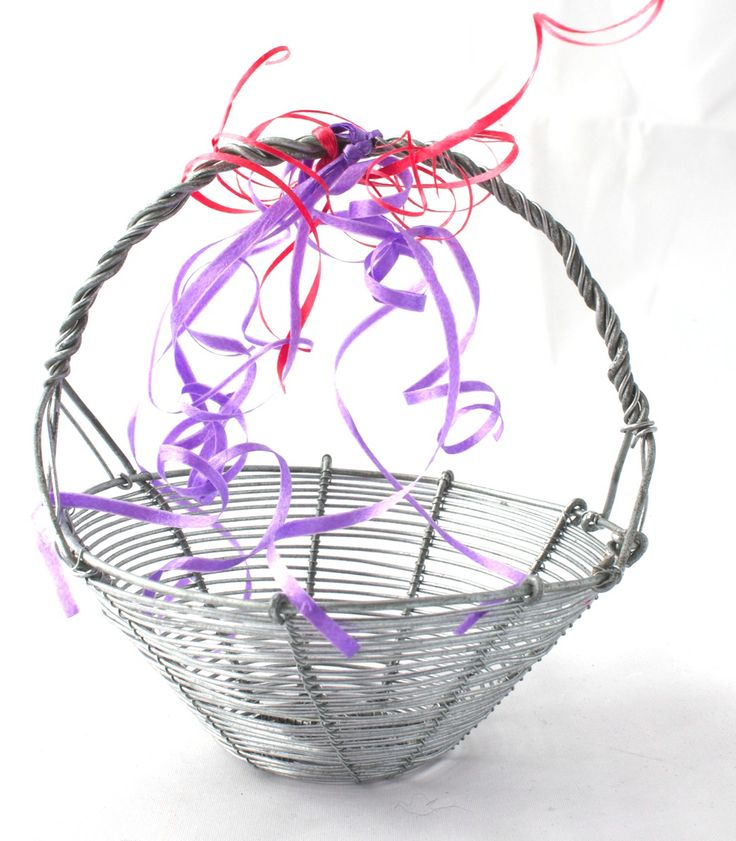 Wire crafted delicate basket.