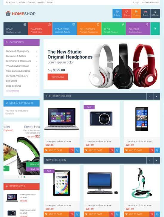 30+ Best Ecommerce Website Templates Free & Premium | Web ...