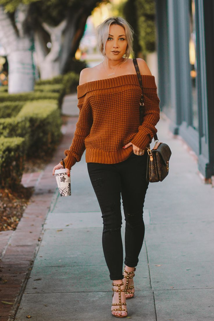 Chunky Knit Sweater Blondie In The City Sweater Women Outfit Fall Outfits Women Fall Outfits