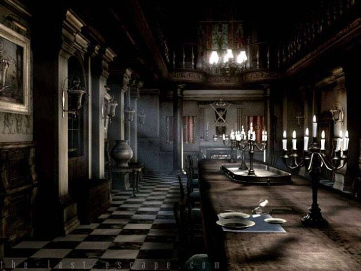 Spencer mansion dining rooms entrance and resident evil 5 for Dining room entrance