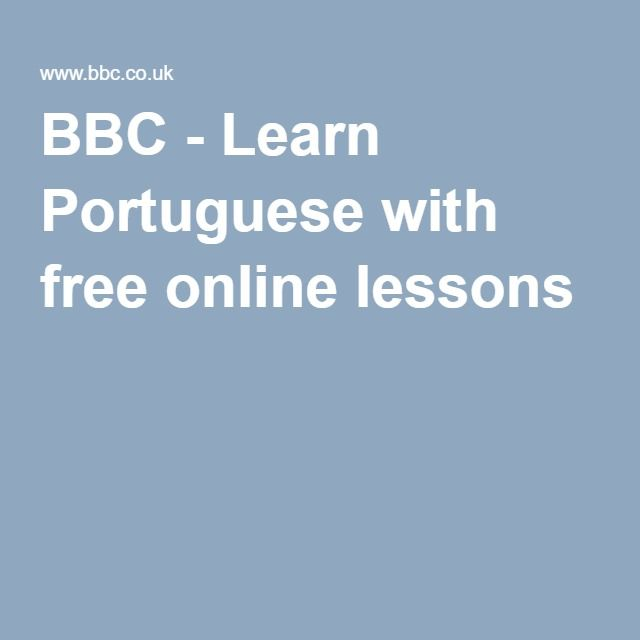 BBC - Learn Portuguese with free online lessons