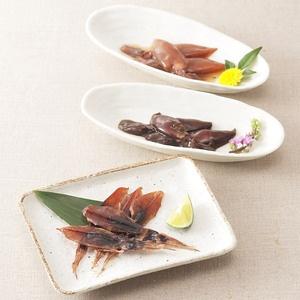 <富山県>醤油漬、黒作り、魚醤干し、3種の味わいを。【ほたるいか味くらべ】