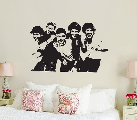 One Direction 1D silhouette Vinyl Wall Art Sticker by Wallkrafted, £12.99