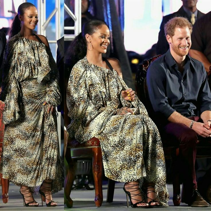 #Rihanna and Prince #Harry celebrating the Barbados' 50th anniversary of independence. • • • • • • • • • • • • • • • • • • • • • • • • • • • • • • #Rihanna e Príncipe #Harry comemorando o 50º aniversário da independência de Barbados.
