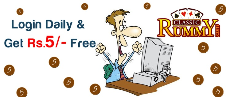 Login Daily and Get Rs.5/- for Free, to know more about the offer register at : https://www.classicrummy.com/online-rummy-promotions/login-everyday-offer?link_name=CR-12