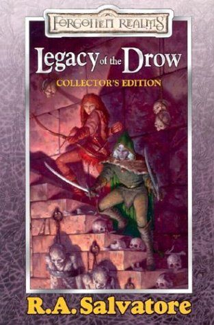 The Legacy of the Drow Collector's Edition brings together four bestselling novels: The Legacy, Starless Night, Siege of Darkness, and Passage to Dawn by R.A. Salvatore