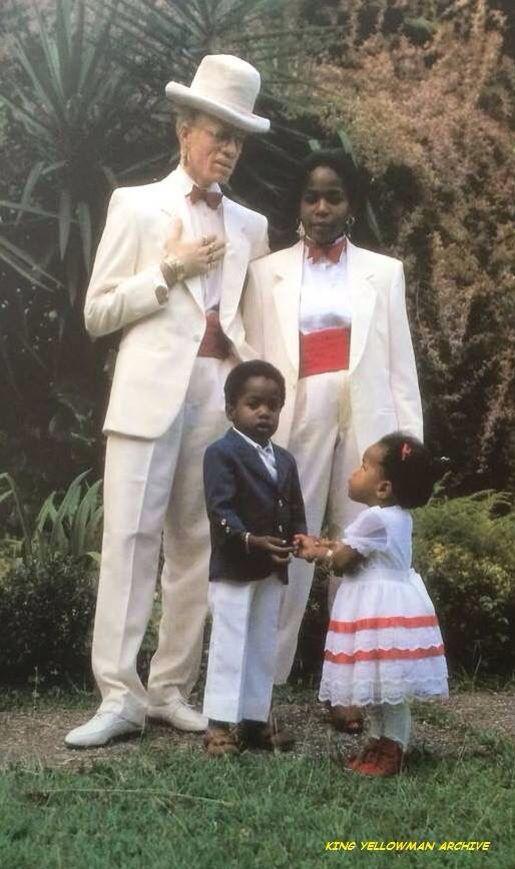 Yellowman 1986 With Wife Rosie Children Karim And Kreema
