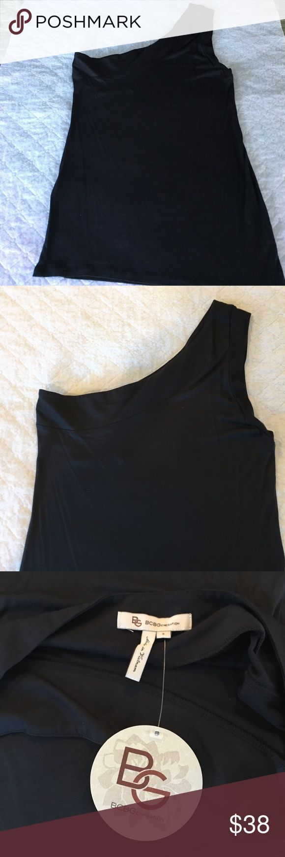 BCBGeneration One shoulder tank top BCBGeneration top. One shoulder tank top size small. 100% Rayon. Never worn, new with tags. BCBGeneration Tops Tank Tops