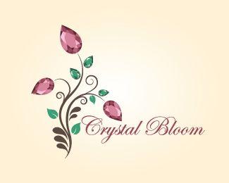Elegant Event Planning Logos | crystal bloom Logo Design Details