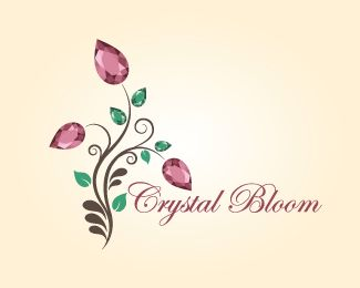 crystal bloom Logo design - handmade jewelry brand ,handmade jewelry courses...etc Price $350.00