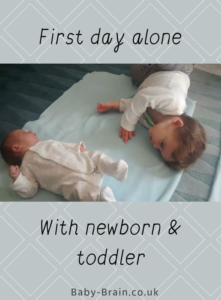 Mum's first day alone with the newborn baby and toddler: what it was like and our schedule for the day