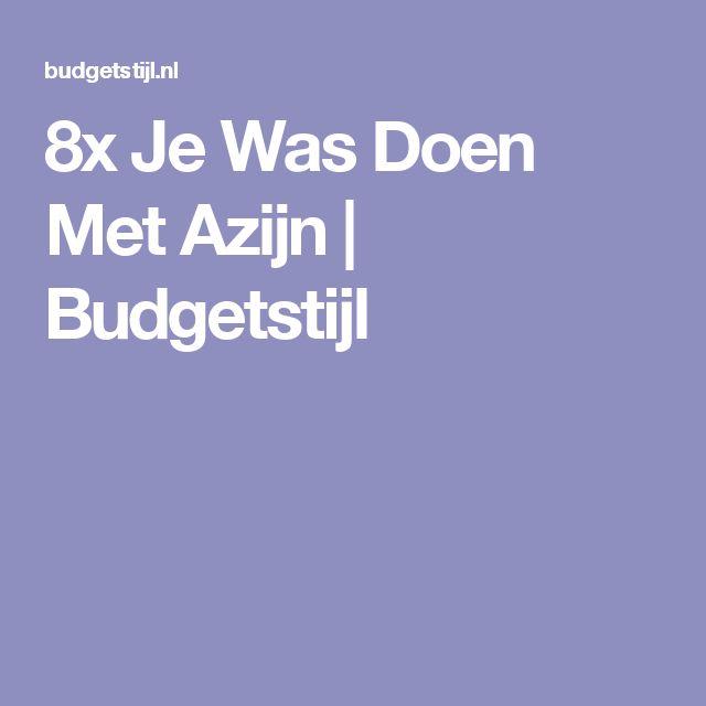 8x Je Was Doen Met Azijn | Budgetstijl