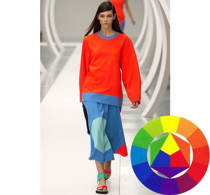 Ütős színkombinációk. Színkontrasztok az öltözködésben. Komplementer kontraszt.