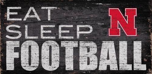 Nebraska Cornhuskers Football Sign Wall Art