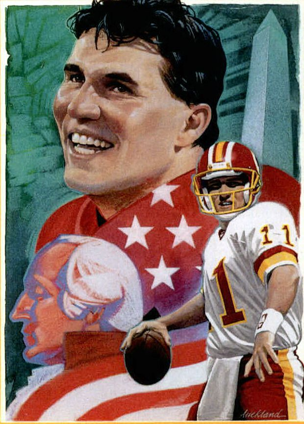 Mark Rypien, Washington Redskins by Jim Auckland, 1992.