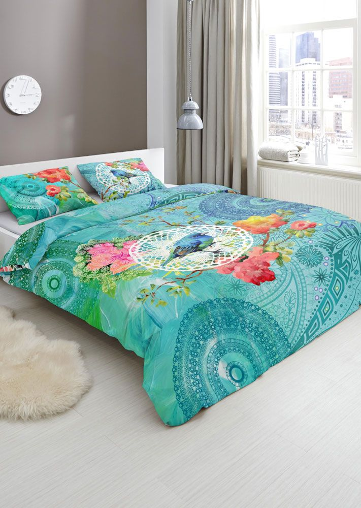Hip Dekbedovertrek Tessya, mooi beddengoed in moderne, vernieuwende en kleurrijke dessins. #hipdekbedovertrek #hip #mandala #rainbow #unicorn #bed #beddengoed #slaapkamer #dekbedovertrek