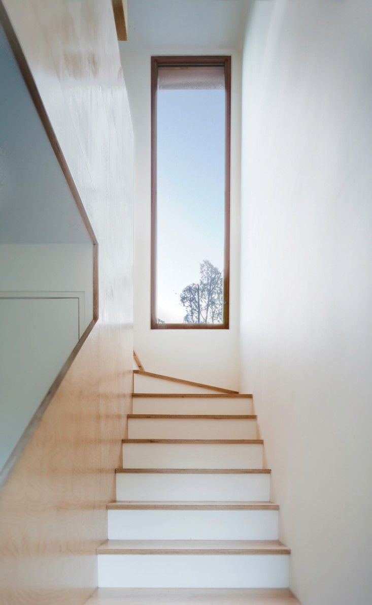 stairs with window - Tin Shed in Sydney by Rafaello Rosselli | Remodelista