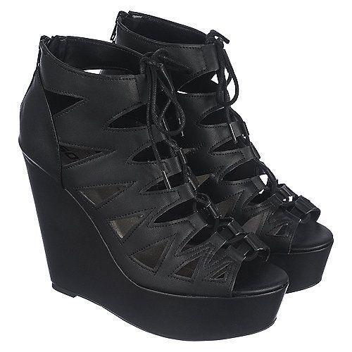 Buy Soda Nogomi Women's Black High Heel Wedge Dress Shoe Online. Find more women's dress, wedge, and high heel shoes at ShiekhShoes.com.