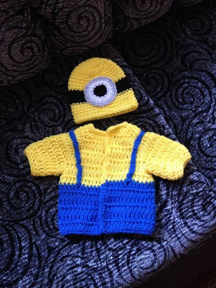 Minion costume for lil baby & 712 best Crochet I Like - Minions images on Pinterest | Crochet ...