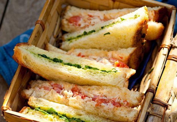 Sandwich crabe et cresson