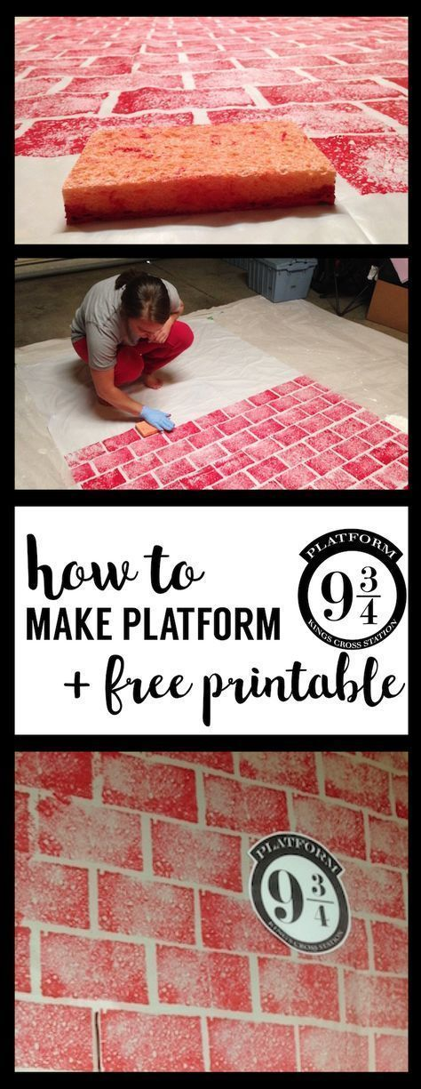 DIY Harry Potter Platform 9 3/4 with free printable! Make your own Kings Cross S