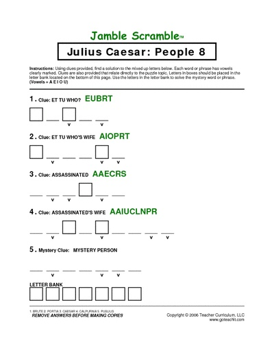 Julius Caesar Educational Learning Games Julius Caesar