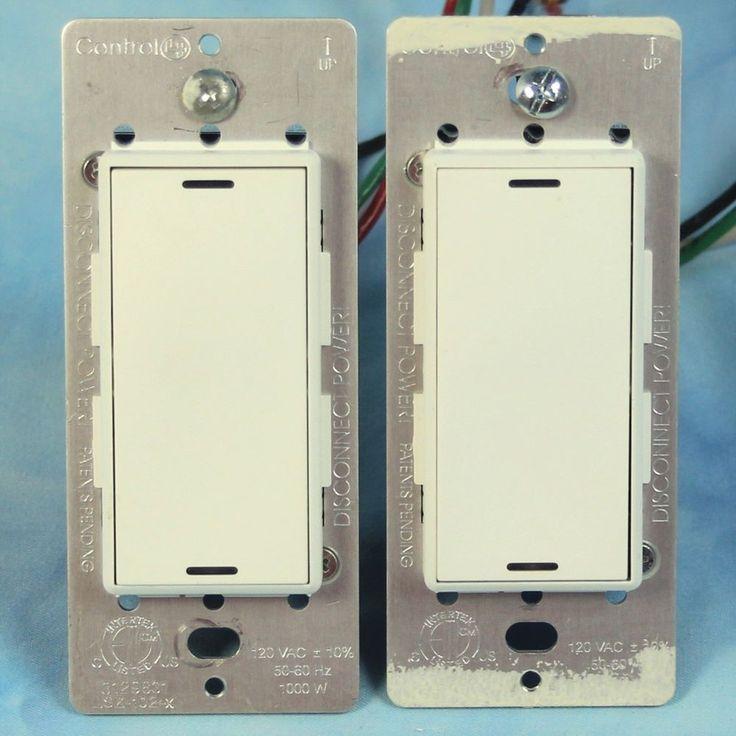 Control4 Wireless Switches Set of 2 Control 4 LSZ-102-x WHITE ZigBee Pro #Control4