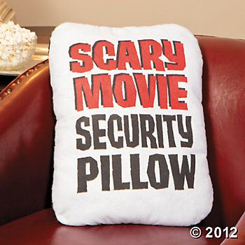 """Scary Movie Security Pillow"", Quilts, Throws and Pillows, Home Decor - Terry's Village Holiday Decor"