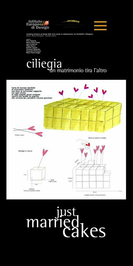 Master Food Design IED Roma 2006 - Just married cakes - 6    #masterfoodesign #iedroma #foodesign #design #food #drink #weddings #kromosoma #francescosubioli #design #architecture #art