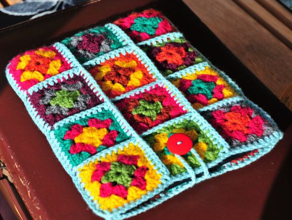 iPad Case iPad Cover iPad Sleeve Colourful Retro Crochet by Floom
