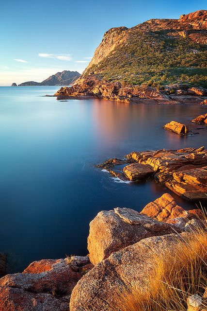 ~~Sleepy Bay awakens  | Freycinet National Park, Tasmania, Australia | by Luke Tscharke~~