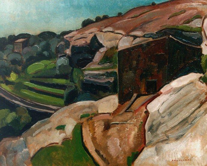'Dirk' Herman Willem Filarski Amsterdam 1885-1964 Zeist Heuvels bij Tourettes-sur-Loup, olie op doek 66,2 x 83,2 cm., gesigneerd r.o.