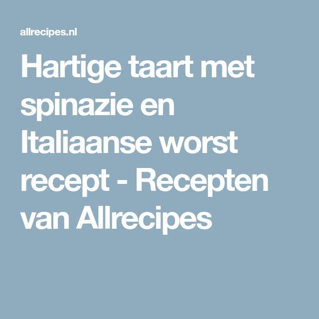Hartige taart met spinazie en Italiaanse worst recept - Recepten van Allrecipes