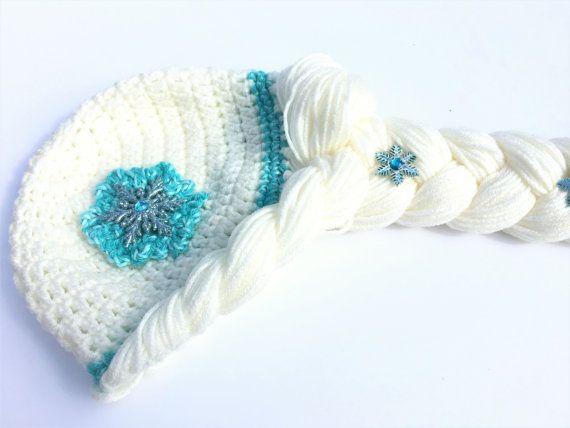 Elsa Wig Elsa Hat Elsa Crochet Hat Elsa Frozen Hat Frozen