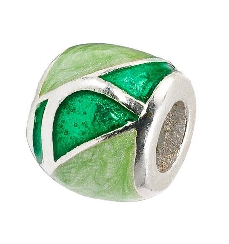 Amore & Baci 20514 green enamel bead