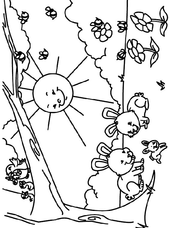 Dltk Coloring Pages Spring Coloring Page
