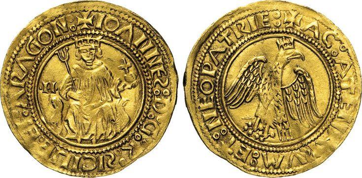 NumisBids: Numismatica Varesi s.a.s. Auction 65, Lot 421 : MESSINA - GIOVANNI D'ARAGONA (1458-1479) Reale d'oro sigle I I. ...