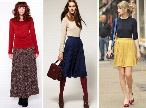 DRESSING MISTAKES: The long skirt is a bit frumpy, good only for the tall women. Choose a knees lenghts instead.