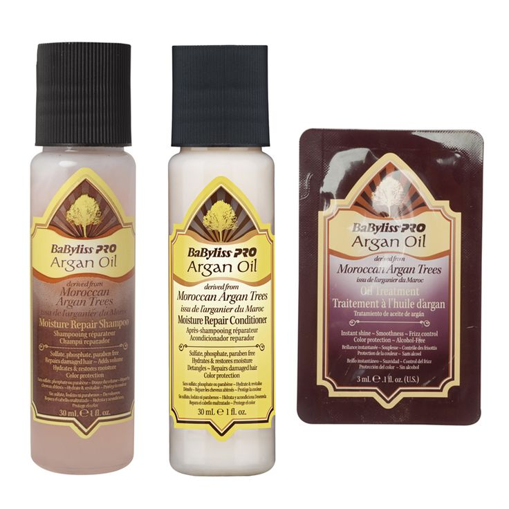 Argan Oil BaByliss PRO Travel Hair Care Set - $7.50 #travelhaircareset #hairtreatment #haircare
