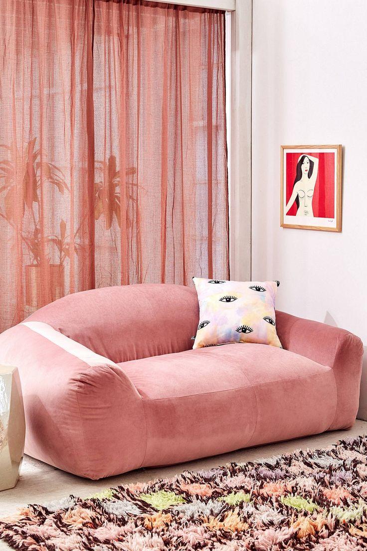 Slide View: 1: Beaumont Velvet Soft Sofa