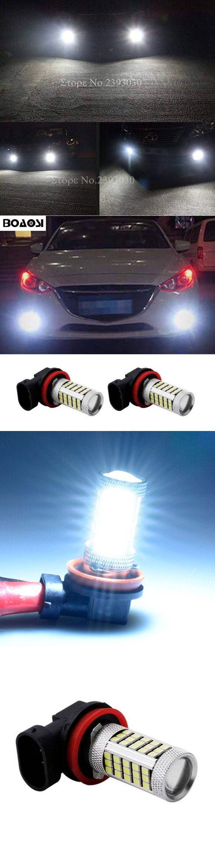 BOAOSI 2x Super White H8 H11 CREE Chip 2835 LED Fog Light Driving Bulbs for mazda 3 5 6 xc-5 cx-7 axela atenza Car Accessories