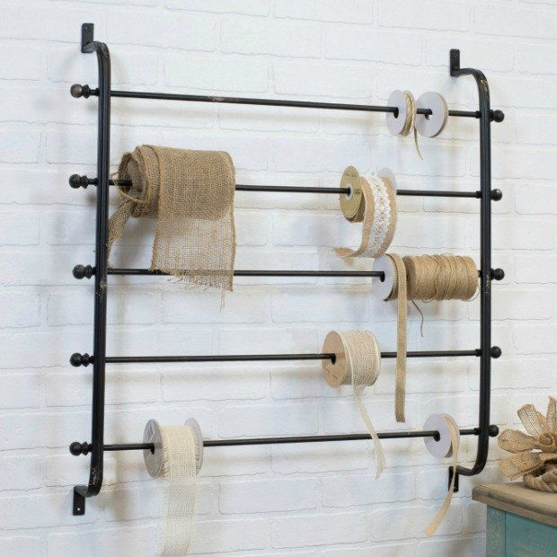 Ribbon And Wrapping Paper Wall Rack Baskets On Wall Wrapping Paper Holder Ribbon Storage