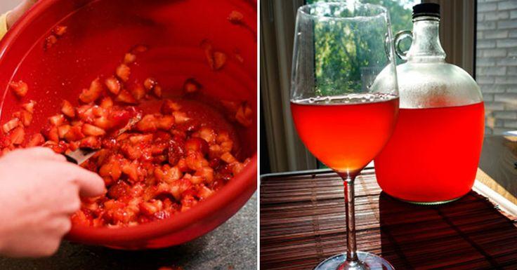 Máte radi víno a nikdy nepohrdnete ochutnávkou nových chutí? Čo tak pohár jahodového? Ponúkame vám recept, ako si ho vyrobíte doma! Je dôležité poznamenať, že hoci sa pri výrobe normálneho vína strapce hrozna neumývajú (na zachovanie vinných kvasníc), jahody určite dôkladne umyte. Buďte trpezlivý a nechajte vínu dostatok času na kvasenie, pretože až potom odhalí svoju božskú chuť! Ingrediencie 3