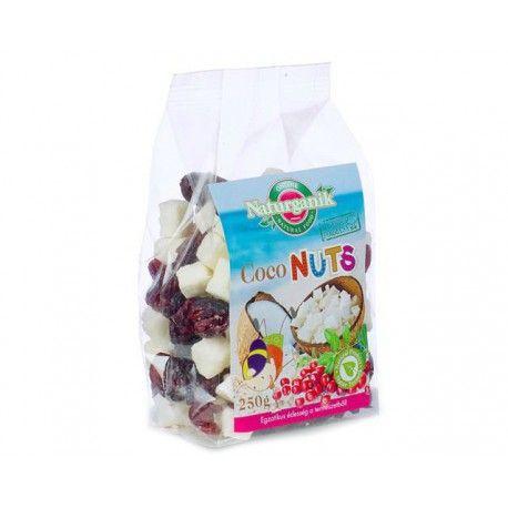 KOKOSOVÉ KÚSKY S BRUSNICAMI. Nahraďte nezdravé mlsanie týmito chutnými kúskami prírodného kokosu s brusnicami. Chuť a zdravie,  ruka v ruke.