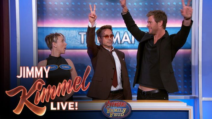 It's Avengers versus Avengers in a Jimmy Kimmel Family Feud. And it turns out, none of them know how to play.
