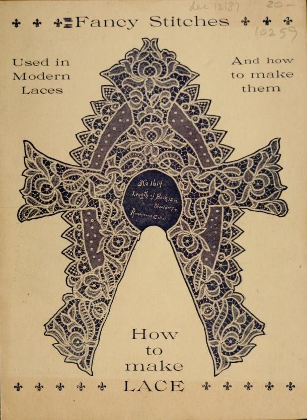 How To Make Lace from 1899