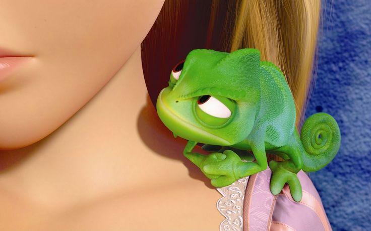Tangled, cartoon, chameleon, close-up, tangled