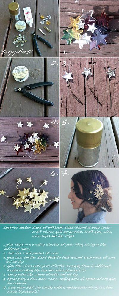20 DIY Tutorials für Haarschmuck - Handgemachte Haarschmuck
