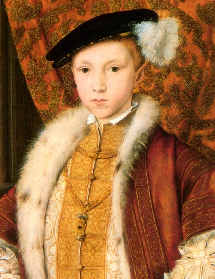 This is King Henry VIII long awaited son his mother Jane Seymour, was the only wife King Henry VIII considered his 'true' wife . The boy was christened Edward but 9 days after Jane Seymour died of pregnancy related causes.